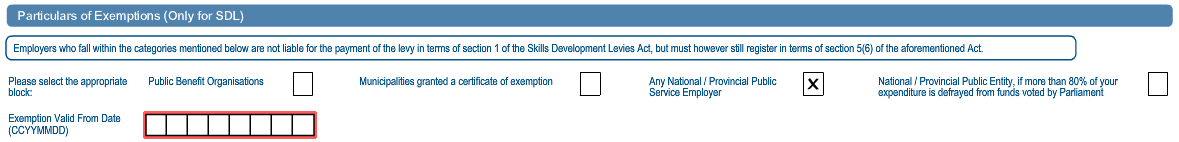 An example of the completed Skills Development Levy container is below. 27.