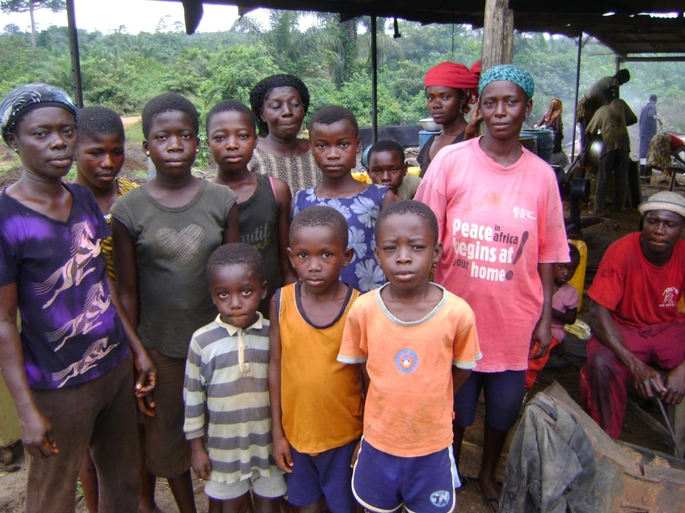 Photo: Forest fringe Dwellers of Pramkese Community in Ghana Picture by: Godson N.