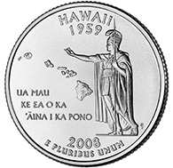 View all the 50 State Quarters Products Hawaii The fifth and final quarterdollar coin released in 2008 honors the State of Hawaii, and is the 50th and last coin in the United States Mint s popular 50