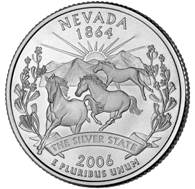Nevada The first commemorative quarter-dollar coin released in 2006 honors Nevada, and is the 36th coin in the United States Mint's 50 State Quarters Program.