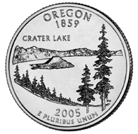 Oregon The State of Oregon is honored with the third quarter to be released in 2005, and the 33rd in the United States Mint s 50 State Quarters Program.