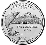 Washington The second commemorative quarter-dollar coin released in 2007 honors Washington, and is the 42nd coin in the United States Mint's 50 State Quarters Program.