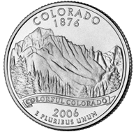 View all the 50 State Quarters Products Colorado The third commemorative quarter-dollar coin released in 2006 honors Colorado, and is the 38th coin in the United States Mint's 50 State Quarters