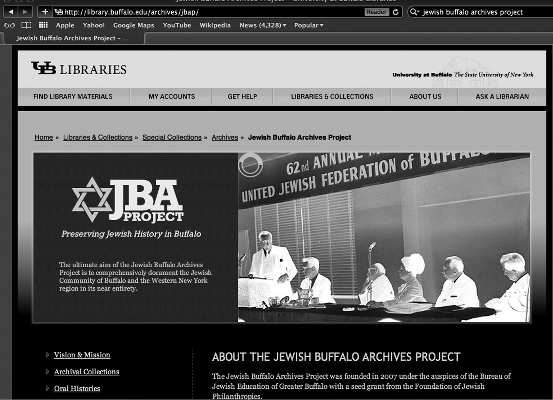 W h i c h H a t A r e Y o u W e a r i n g : Y o u N e e d W h a t? W h e n? Figure 2. Jewish Buffalo Archives Project Website.