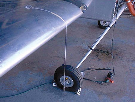 If the leading edge of the wing was the datum, a plumb bob could be dropped from the leading edge and a chalk mark made on the hangar floor.