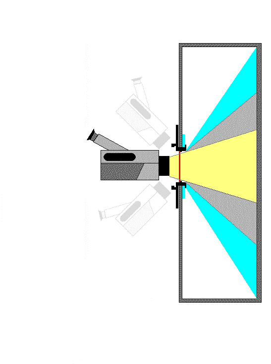 The illustration in Figure 1 shows the area inside a cabinet that can be viewed through an IR window using a camera with an 82 FOV lens.