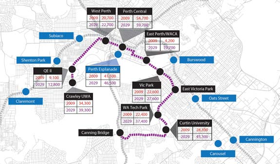= reduced service or abandoned routes) Map D-2: Activity nodes along Knowledge Arc LRT Route,