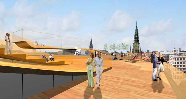 The Roof as Public Urban Space In order for the roof of a building to function on top of the city, activities and opportunities, preferably of an informal and playful nature, should be available to