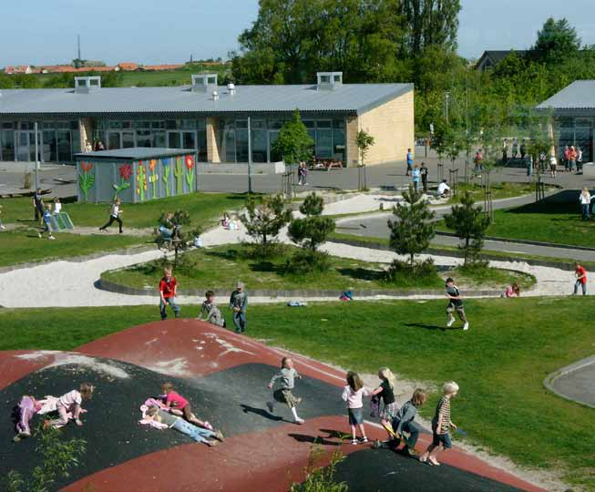 Recommendations - School yard planning and design can incorporate smaller more intimate spaces that can accommodate smaller activities.