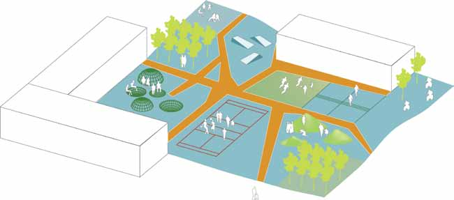 Summary The School School yard design can revolve around a simple informal framework that welcomes different types of movement.