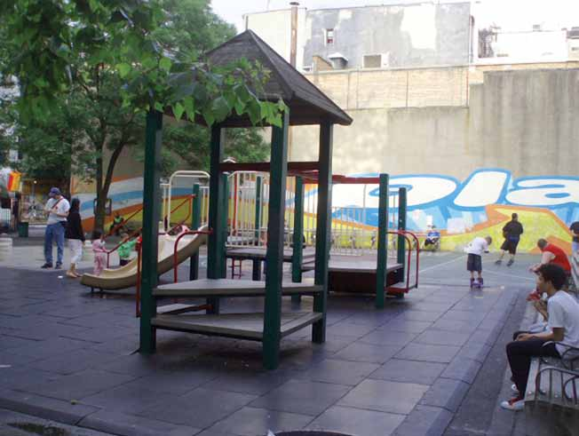 Recommendations The de Salvio Playground in New York City is an example of a play area adapted to the dense urban structure.