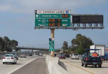 HOT lanes provided two reversible travel lanes for eight miles.