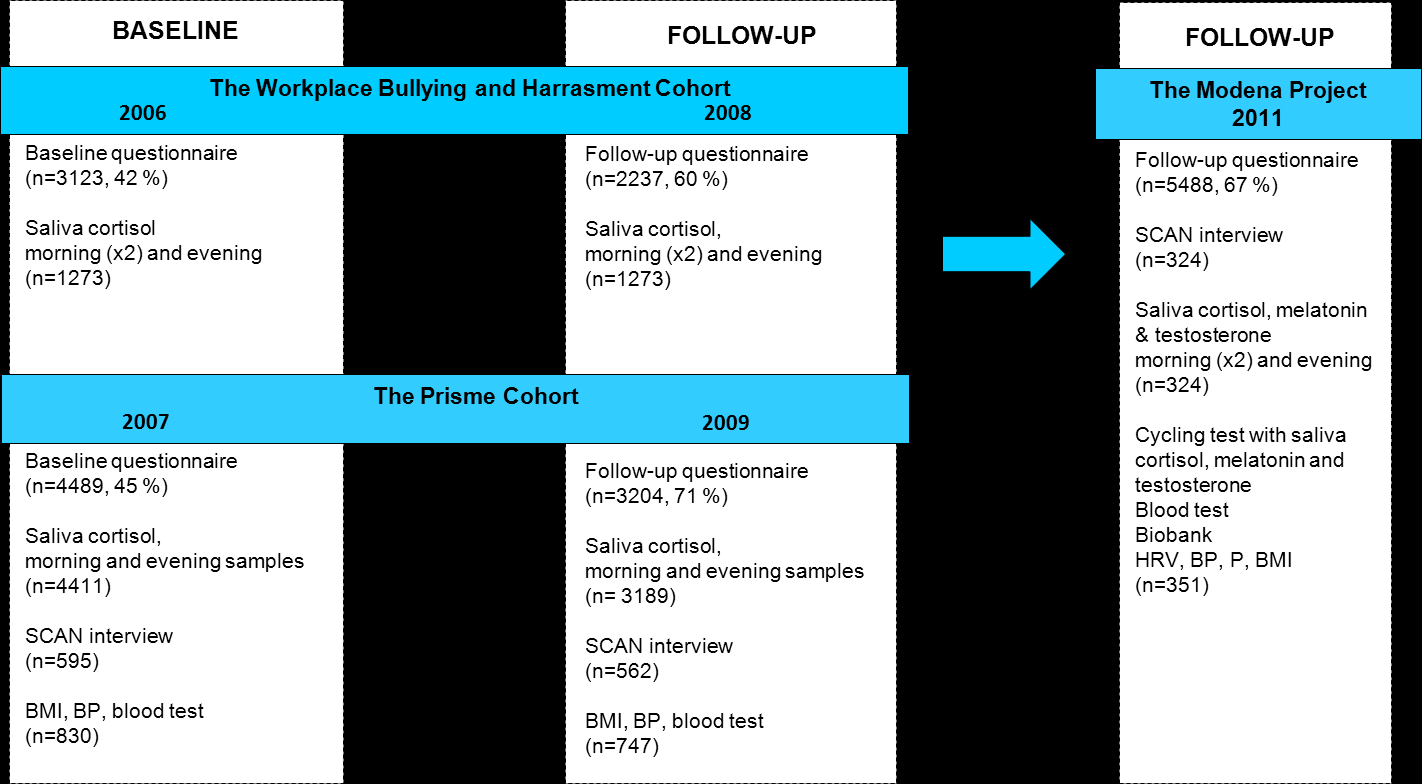 The PRISME Cohort was measured in 2007 (response rate 45%) with a follow-up in 2009