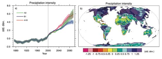 progresses through the 21st century. 18 Some increase in precipitation intensity is inevitable given the pollution humanity has already added to the atmosphere.