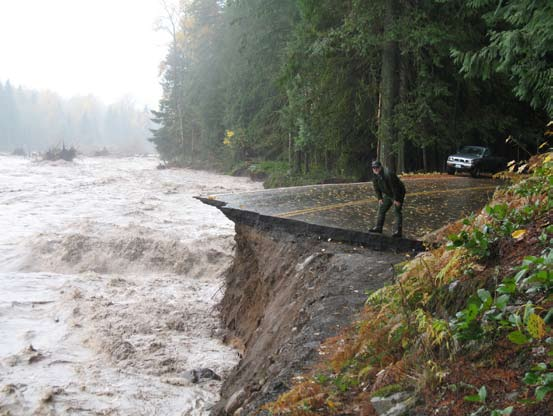 National Park Service November 6 and 7, 2006. After a massive rainstorm which dropped 18 inches of rain on Mt.