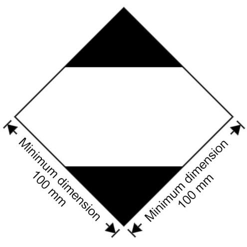 3.4.7 Marking for packages containing limited quantities 3.4.7.1 Except for air transport, packages containing dangerous goods in limited quantities shall bear the marking shown in Figure 3.4.1: Figure 3.