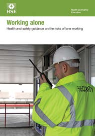 Working alone Health and safety guidance on the risks of lone working Introduction This leaflet provides guidance on how to keep lone workers healthy and safe.
