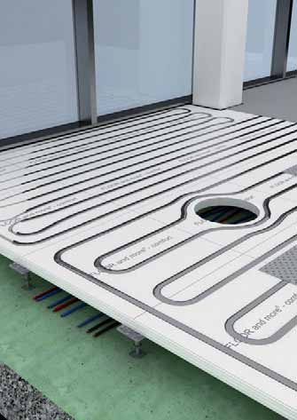 The system offers integrated, high-performance under floor heating with good heat reflection.