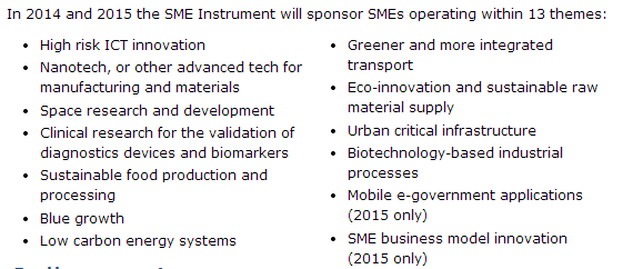 6. Synergies for SMEs in Horizon 2020 Structural limitations need to be addressed in order for SMEs to realise their full potential within H2020: In theory, the structure of Horizon 2020 ought to be