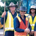 When selecting sun protective clothing for outdoor workers keep in mind that: Different types of fabric provide different protection.