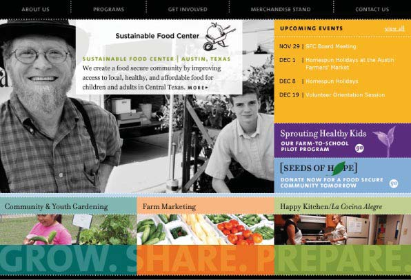 Sustainable Food Center Website