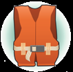 A Type III Life Jacket, or Flotation Aid is good for calm, inland water, or where there is a good chance of quick rescue.