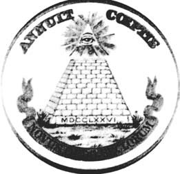 Designs of the Reverse Reverse side of the Great Seal. Although description was adopted in 1782, no die has ever been cut.