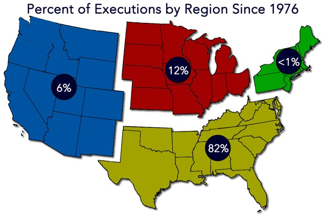 The 2% Death Penalty, p.5 The true picture, however, is even more unbalanced. Even in Texas, a minority of jurisdictions drive the death penalty statistics.
