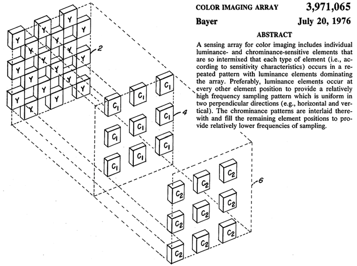The term pixel pair was used for a hardware sensor element in a 1975 patent application by Lampe and White 61 of Westinghouse, as shown in Figure 13, though they didn t use pixel for a hardware
