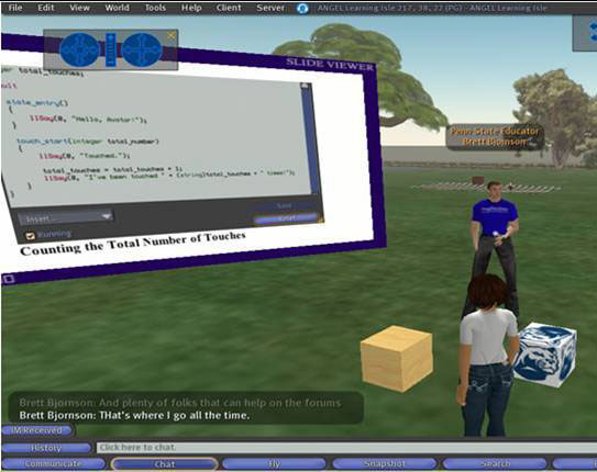 Virtual Worlds as a Communication Medium SL can be especially valuable in distance learning, giving students a common place to interact regardless of their physical locations.