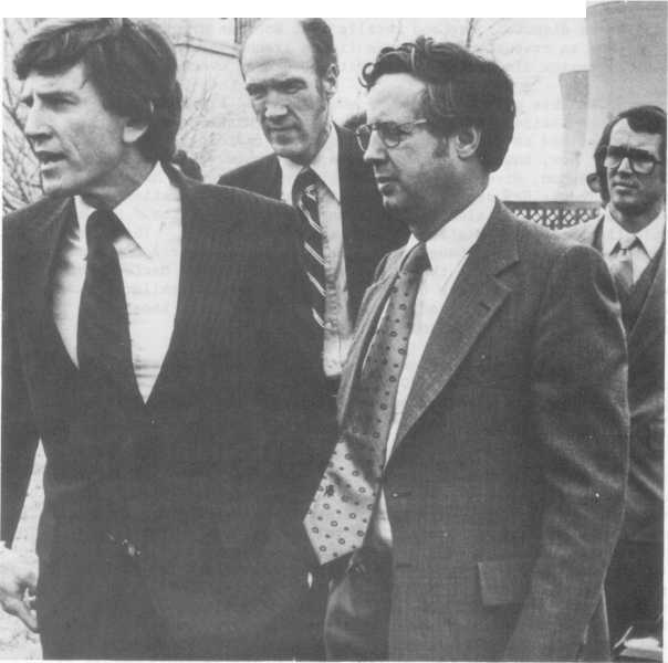 ACCOUNT OF THE ACCIDENT Sen. Gary Hart (1), Sen. Alan Simpson (c), and Rep.