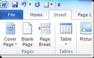 Tables Creating Tables in Microsoft Word Do not use tabs or spaces to create a table-like structure. Instead, use Word s Table feature to create tables.