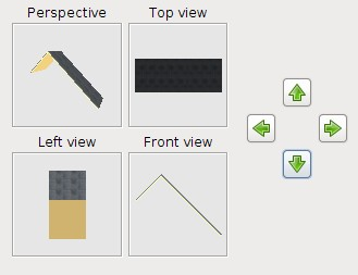 6 - Delete the walls, but keep the copy. 7 - Click 3D view Export to OBJ format and save the first roof section.
