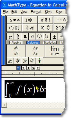 8. Nudging and the MathType Customizable Toolbars Nudging is a technique that can be accomplished in both Equation Editor and MathType, and is very useful in achieving perfect positioning for your