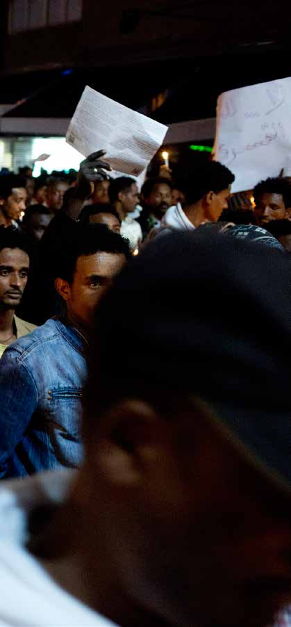 IN January 2014, thousands of Eritreans and Sudanese in Israel took to the streets of Tel Aviv and Jerusalem to protest against the Israeli authorities policy of coercing them into returning to their