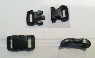 "Supplies needed 3/8"" curved plastic buckle Step One: Measure Paracord Measure and cut"