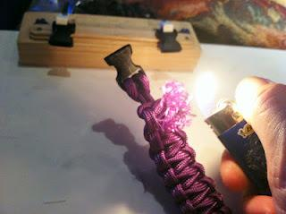 Step Five: Burn and Turn Burn the gutted ends with the lighter: When
