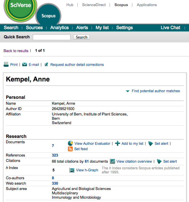 More visible in Scopus by checking your Scopus Author ID 1. Go to Scopus and use the author search tab to search for your name. 2.