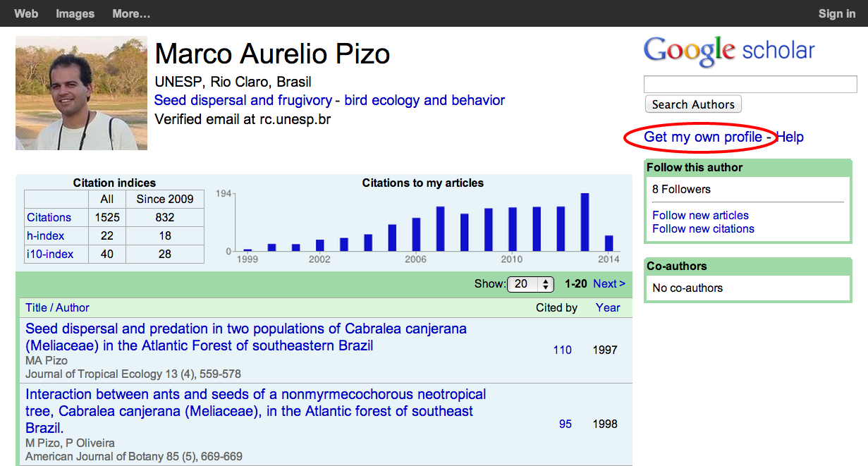 More visible in Google Scholar with an Author Profile More