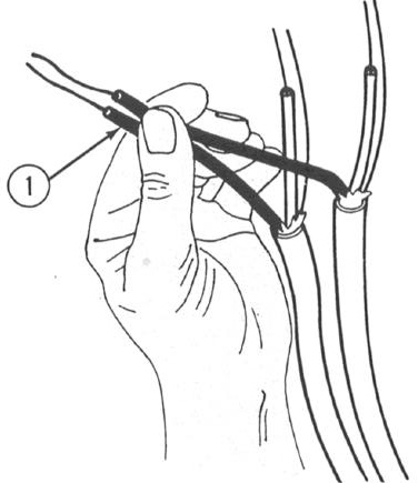 USING LINEMAN S SIDE CUTTING PLIERS NOTE The following procedure for twisting wires is not the only use of lineman s side cutting pliers.