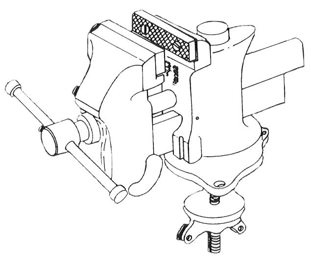 TYPES AND USES MACHINIST'S BENCH VISE CLAMP BASE BENCH VISE The machinist s bench vise has rough jaws which prevent the work from slipping.