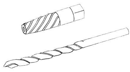 There are two basic types of screw extractors, the straight-flute type and spiral-tapered type.