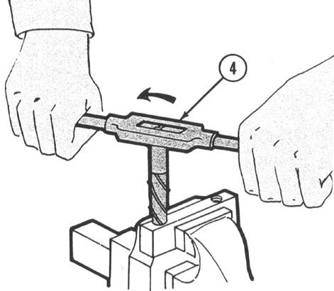 (When drilling larger screws it may be necessary to drill a small pilot hole first, then a larger hole).