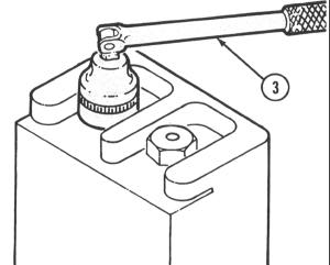 USING A SOCKET WRENCH 1 Select the size of socket (1) that fits the nut or bolt to be turned and push it onto the handle (2) which is best suited to the job.