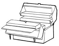 Chest-type tool boxes generally contain larger tools, such as