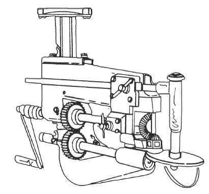 HEAVY DUTY BENCH MOUNT GASKET CUTTER The bit brace circle gasket cutter adjusts from 1 to 5-1/2 inches in diameter.