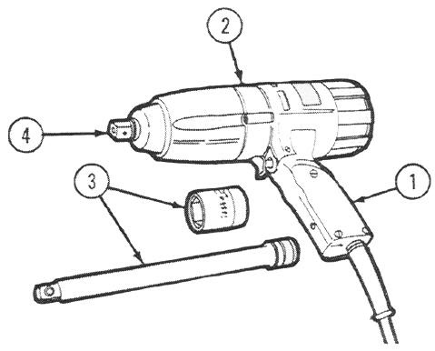 The housing is fitted with a chuck (2) into which a bit (3) or other attachment can be inserted.