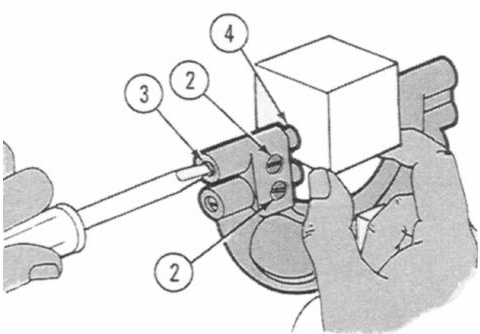 NOTE Adjust the GO dimension first as shown in the illustration, or if desired, reverse the procedure and adjust the NO GO dimension first.
