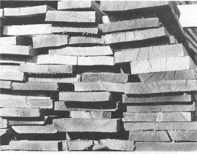 Figure 1. Excessively thick or thin lumber reflects inefficient mill operation and is a waste of sawtimber resources.