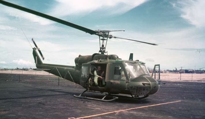 The advantages of technology An Iroquois UH-1B helicopter (A2-1019) of No. 9 Squadron, RAAF, at Vung Tau, Phuoc Tuy Province, Vietnam, c. 1966 67.
